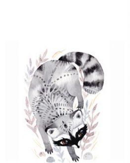Boho Racoon Print