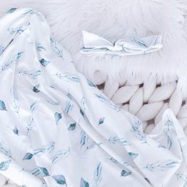 Spring Leaves Swaddle and Headwrap Set