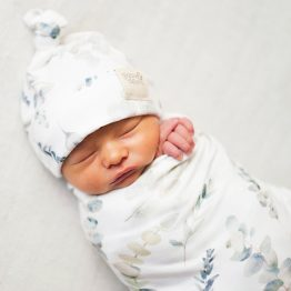 Enchanted Forest Swaddle and Beanie Set