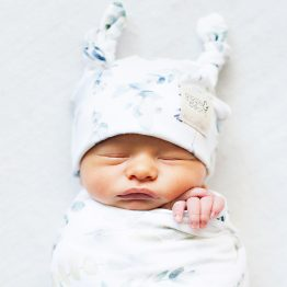 Enchanted Forest Swaddle and Double Knot Beanie Set