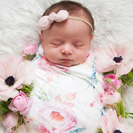 Peony Blooms Swaddle