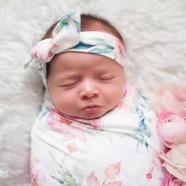 Peony Blooms Swaddle Set