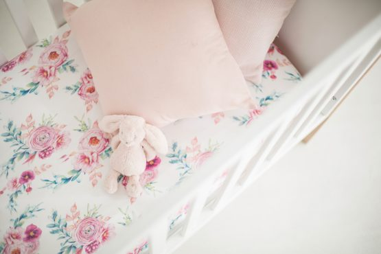 Peony Blooms Fitted Cot Sheet