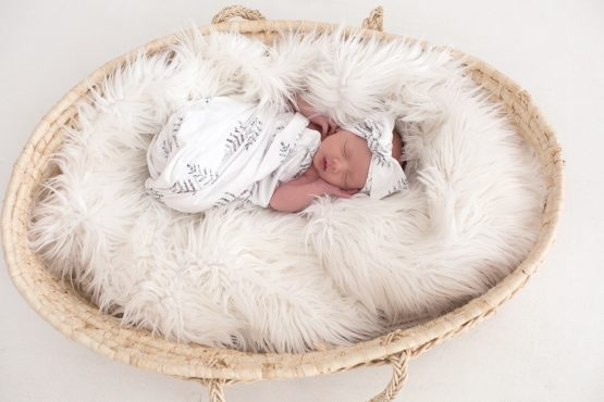 Forest Fern Swaddle and Headwrap Set