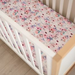 Wildflower Fitted Cot Sheet