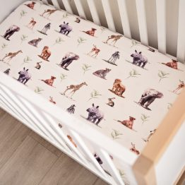 Bush Baby Safari Fitted Cot Sheet