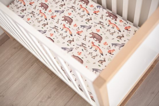 Forever Wild Woodlands Fitted Cot Sheet