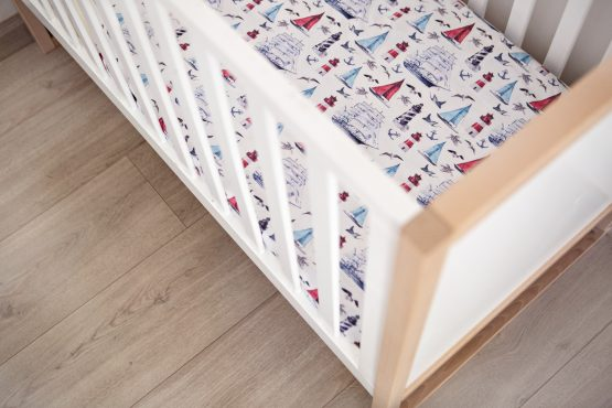 Sail Away Fitted Cot Sheet