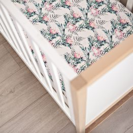 'Where the Heart Is' Protea Fitted Cot Sheet