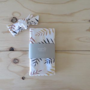 Autumn Leaves Swaddle and Headwrap Set