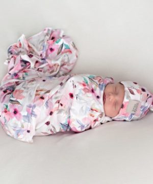Wildflower Swaddle Blanket