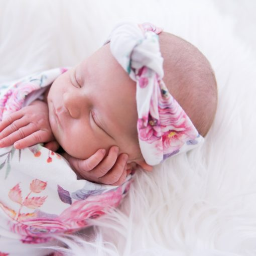 Peony Blooms Rose Knot Headband