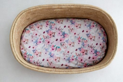 Wildflower Dual Fitted Bassinet & Change Mat Cover