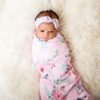 Summer Bloom Swaddle Blanket & Rose Knot Headband