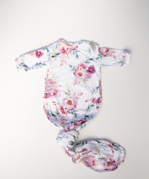 Peony Blooms Knotted Onesie