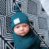 Forest Swaddle Blanket & Top Knot Beanie