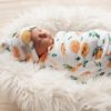 Citrus Swaddle & Top Knot Beanie Set