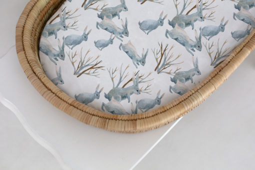 Sweet Wanderings Fitted Bassinet & Change Mat Cover