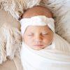 Whisper White Rose Knot Headband