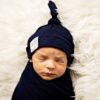 Midnight Navy Swaddle Blanket Set