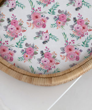 Bloom Peony Fitted Bassinet & Change Mat Cover