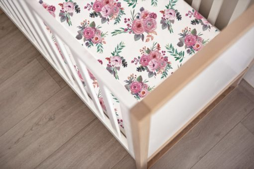 Bloom Peony Fitted Cot Sheet