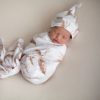 Daydream Pampas Swaddle Blanket and Top Knot Beanie Set
