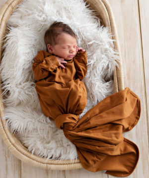Cruise Rust Knotted Onesie Gown